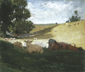 Winslow Homer, Warm Afternoon (Shepherdess), 1878 (Photo courtesy of SUArt Galleries)