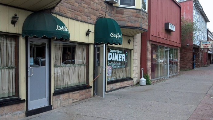 The Crystal Street Diner is next to the Lackawanna Hotel.