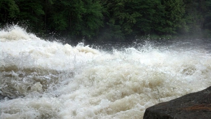 Buttermilk Falls in Long Lake was absolutely roaring during our visit. A 40-year visitor said he's never seen the falls running so fast