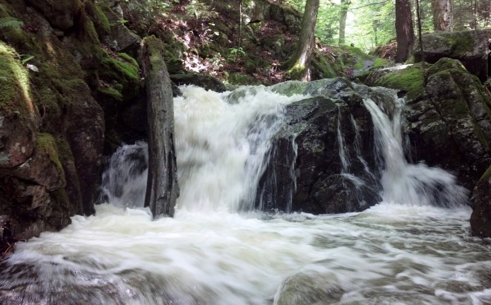 This stream is usually easy to cross, but not this time.