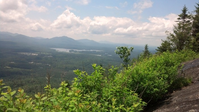 A view from the top of Haystack Mountain.