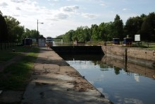 The Barge Canal at Lock 20 in Marcy.